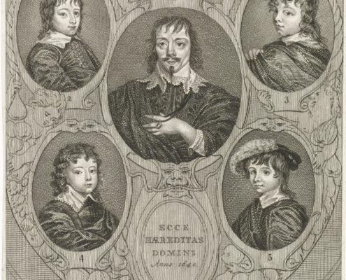 Constantijn Huygens en zijn kinderen RP-P-OB-23.567